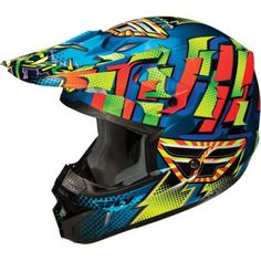 Fly Racing Kinetic Dash full face helmet in Blue/Yellow/Orange - size youth large would be just right for Cedric Yamaha Motocross, Motocross Helmets, Racing Helmets, Racing Motorcycles, Bmx, Snowmobile Helmets, Dirt Bike Helmets, Motorcycle Gear, Dirt Scooter