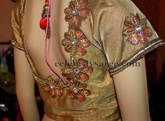 Saree Blouses with Floral Work