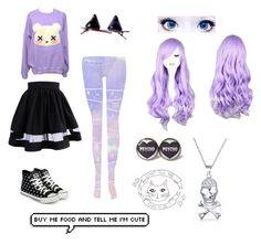 """""""Pastel goth tag"""" by tabookitty10 ❤ liked on Polyvore featuring KEEP ME, Bling Jewelry, yeswalker, women's clothing, women's fashion, women, female, woman, misses and juniors"""