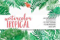 Watercolor Tropical @creativework247