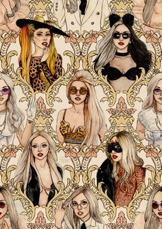 Lady Gaga fan art by the great Helen Green