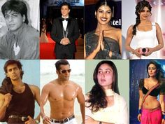 Evolution of Bollywood stars
