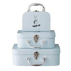 Bloomingville Mini Väskor 3 Delar, Ljusblå