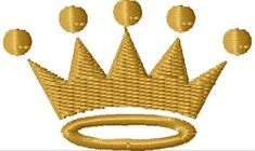 Basic Crown embroidery design from embroiderydesigns.com
