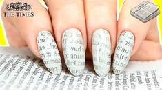 Nail Designs Journal - Among the hottest general trends in nail manner is yellowish acrylic nails. Newspaper Nail Art, Newspaper Printing, Water Color Nails, Water Marble Nail Art, Sharpie Nail Art, Nail Art Diy, Diy Nail Designs, Nail Polish Designs, Marble Nails Tutorial