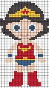 Image result for wonder woman perler bead pattern