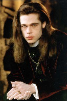Hot Vampires, Vampires And Werewolves, Gothic Fantasy Art, Dark Fantasy, Brad Pitt Vampire, Brad Pitt Interview, Lestat And Louis, The Vampire Chronicles, Interview With The Vampire