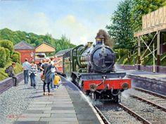 Fine Art Prints of Railway Scenes & Train Portraits - All Aboard for Corwen