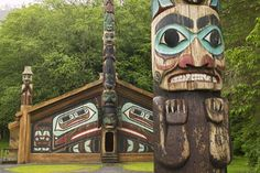 The Totem Bight park in Ketchikan, Alaska is a wonderful display of Northwest Coast Native American culture and their way of life. Description from pinterest.com. I searched for this on bing.com/images