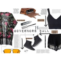 Governors Ball by es-vee on Polyvore featuring Topshop, Chicwish, American Eagle Outfitters, Bare Escentuals and Chanel