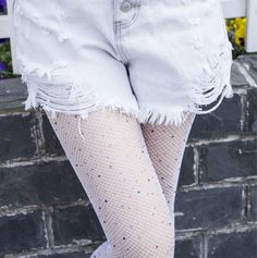 Women Sexy Crystal Rhinestones Fishnet Tights Female Slim Sexy Stockings Charm Pantyhose Club Party Hosiery For Women New Years Eve Outfit Ideas Winter, New Years Eve Outfits, Rhinestone Fishnet Tights, Silk Stockings, Black Tights, Ladies Dress Design, Hosiery, White Shorts, Luxury Fashion