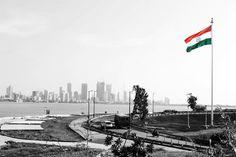 Biggest flag in #Mumbai !  #HappyRepublicDay. #India #incredibleindia. Atulya Bharat!!
