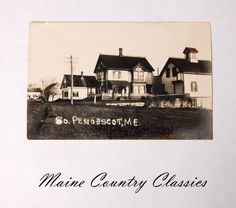 Old 1912 Maine Real Photo Postcard SOUTH PENOBSCOT MAINE RPPC