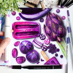 Copic Drawings, Pencil Art Drawings, Art Sketches, Food Art Painting, Copic Marker Art, Sweet Drawings, Gcse Art Sketchbook, Dancing Drawings, Food Sketch