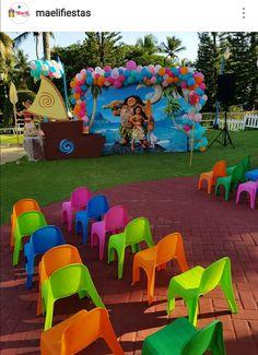 Moana Theme Backdrop Hawaii Birthday Party, Moana Theme Birthday, 2nd Birthday Parties, Baby Birthday, Birthday Ideas, Kids Party Themes, Theme Ideas, Party Ideas, Moana Backdrop
