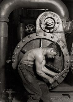 Lewis Hine's classic. I know it's supposed to be all Man and Machine and Modernity, and possibly also Pro-Labor Movement, but it's more like not-so-hidden gay icon.