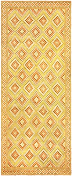 Antiques Vintage Swedish Flat Weave Rug Bb6156 Attractive Appearance