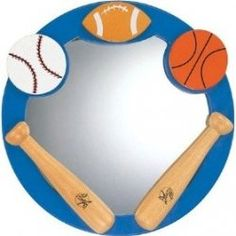 Round Mirror with All Sport Accent