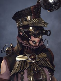 Ashen, the Steampunk Law Enforcer Picture  (3d, fantasy, character, steampunk)