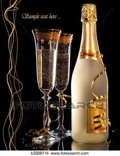 of champagne with bottle Picture Glasses of champagne with bottle Picture