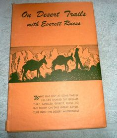 ON DESERT TRAILS EVERETT RUESS LINOLEUM BLOCK PRINTS ILLUSTRATIONS 1950
