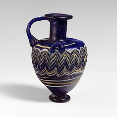 Glass hydriske (perfume bottle) ca. 3rd century B.C. Greece from the @metmuseum collection.
