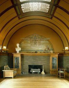 Frank Lloyd Wright house interiors | Interior, Frank Lloyd Wright Robie House, Chicago - Frank Lloyd Wright ...