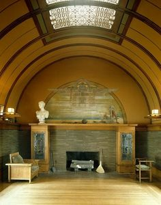 Frank Lloyd Wright house interiors   Interior, Frank Lloyd Wright Robie House, Chicago - Frank Lloyd Wright ...