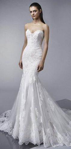 Enzoani 2018 classic lace mermaid wedding gown