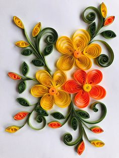 Flower quilling art Hand made item Paper Quilling Cards, Paper Quilling Flowers, Paper Quilling Patterns, Easy Paper Flowers, Quilled Roses, Quilling Flower Designs, Quilling Flowers Tutorial, Quilling Work, Quilling Craft