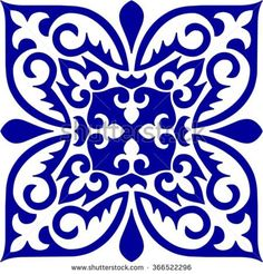 Geometric Islamic Pattern Arabesque brown and white, square