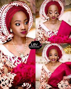 Beautiful bride: Anisah Makeup: @lbvmakeovers #BellaNaijaWeddings #northernbelle