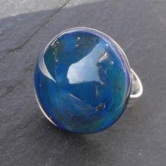 Bag.1053 bague réglable en verre de murano