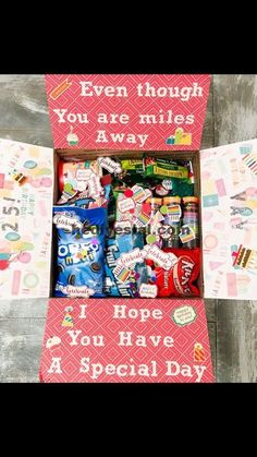 Super birthday presents for mom diy care packages 26 Ideas diy birthday 391461392610599971 Birthday Presents For Mom, Cute Birthday Gift, Birthday Gifts For Best Friend, Birthday Box, Best Friend Gifts, Birthday Ideas, Birthday Present Diy, Boyfriend Care Package, Boyfriend Gifts