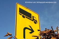 Rechts abbiegen #gelb // 365tagegelb.wordpress.com