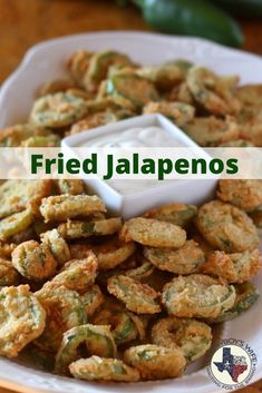 Fried Jalapeños, aka, Bottle Caps Fried Jalapenos make great appetizers for your next football party! Whether you call them bottlecaps or fried jalapenos, they'll be a hit! Jalapeno Recipes, Veggie Recipes, Mexican Food Recipes, New Recipes, Vegetarian Recipes, Cooking Recipes, Healthy Recipes, Recipes With Jalapenos, Jalapeno Cheddar Cornbread
