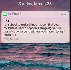 Thank you father the battle that I'm fighting to do alone but I trust in you.