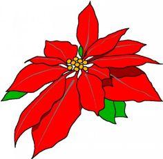red christmas poinsettia school holidays clipart borders rh pinterest com poinsettia clip art flowers poinsettia clip art images