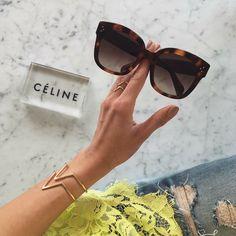 Celine New Audrey Havana ❤️ Shop them from Sunglass Avenue