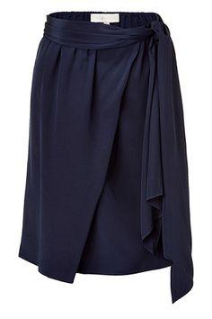 VANESSA BRUNO  Navy Wrapped Silk Skirt