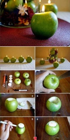 Apple Candles.....great idea.