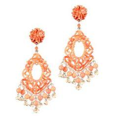 Pendientes de fiesta Dublos de palitos de coral rosa