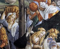 Sandro Botticelli, The Trials and Calling of Moses, 1481-82, fresco, 348,5 x 558 cm, Cappella Sistina, Vatican
