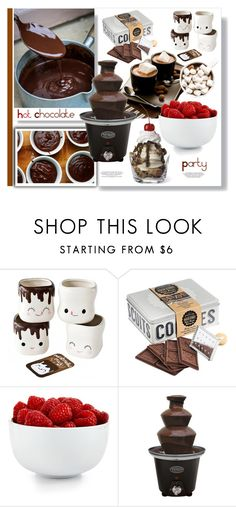 """Hot Chocolate Party"" by ildiko-olsa ❤ liked on Polyvore featuring interior, interiors, interior design, home, home decor, interior decorating, Mason Cash, The Cellar and Nostalgia Electrics"