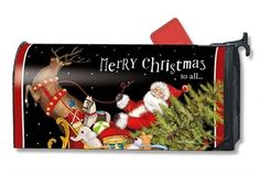 Mailbox Cover Santa's Sleigh Christmas decorative magnetic mailbox covers by…