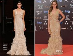 Michelle Jenner In Naeem Khan – Goya Cinema Awards 2014, los diseños de Naeem Khan son tannn hermosos