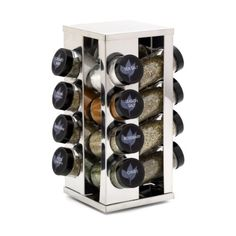 #wow This #Kamenstein 16-Jar Heritage Spice Rack always puts the right spice at your fingertips, because it includes free spice refills for 5 years! This stainle...