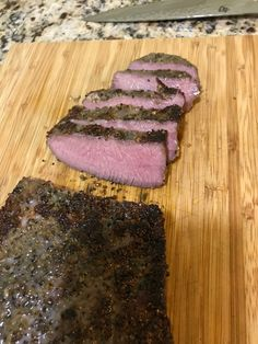 London broil, typically a cut made from more expensive flank steak can be whipped up with a totally tender result with a much cheaper cut: top round! One of the cheapest beef cuts at the grocer, a 12 to 24 hour dip renders this tough cut as tender as ever.