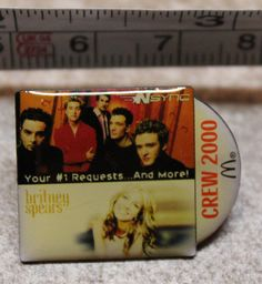 McDonalds NSync Britney Spears Staff Crew 2000 Collectible Pinback Pin Button #McDonalds