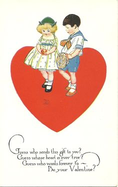 American Colortype Valentine postcard, early 1920's